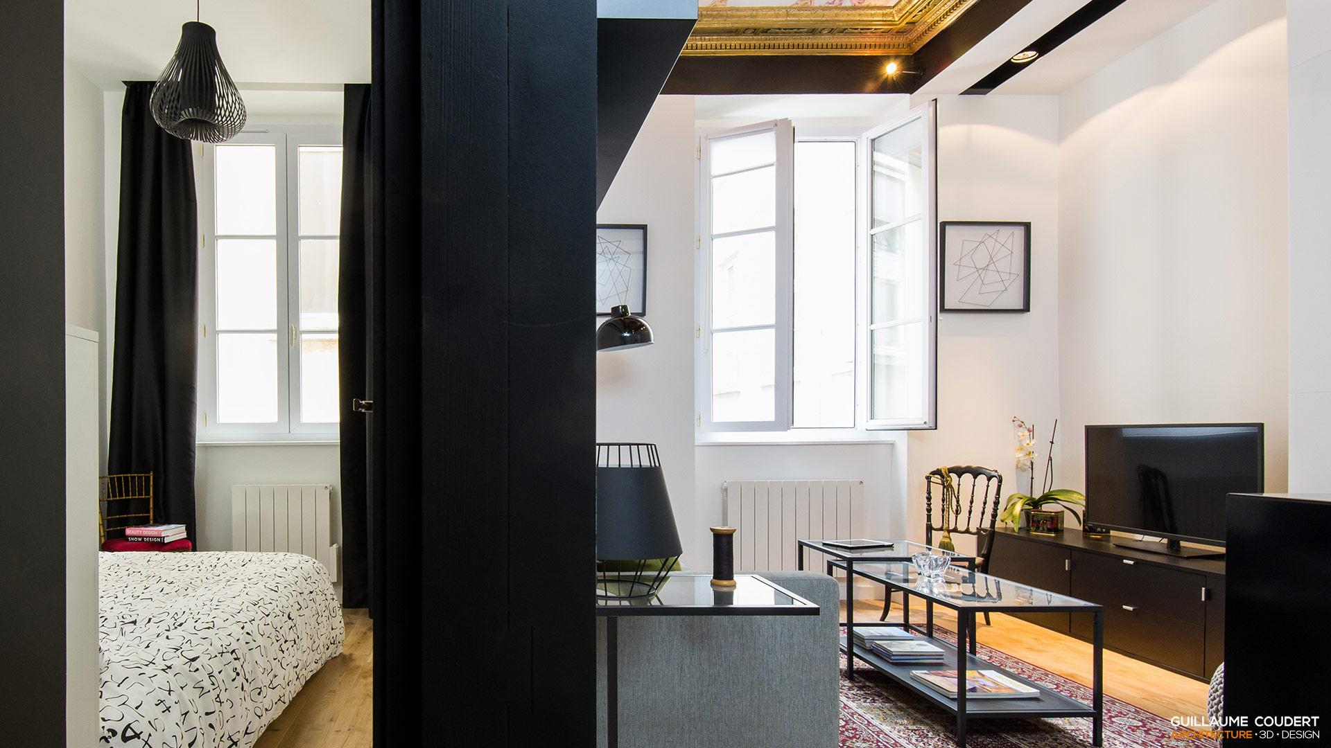 appartement su03 lyon 69002 guillaume coudert architecture d 39 int rieur. Black Bedroom Furniture Sets. Home Design Ideas