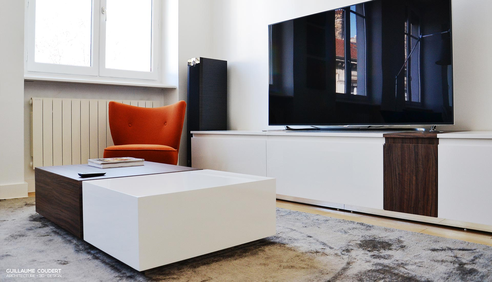Meuble Tv Guillaume Coudert Architecture D Int Rieur # Mesure Table Tv