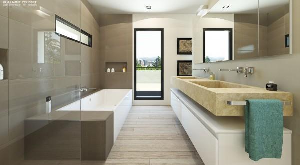 Appartement bo01 ecully 69130 guillaume coudert architecture d 39 int rieur - Salle de bain architecte ...