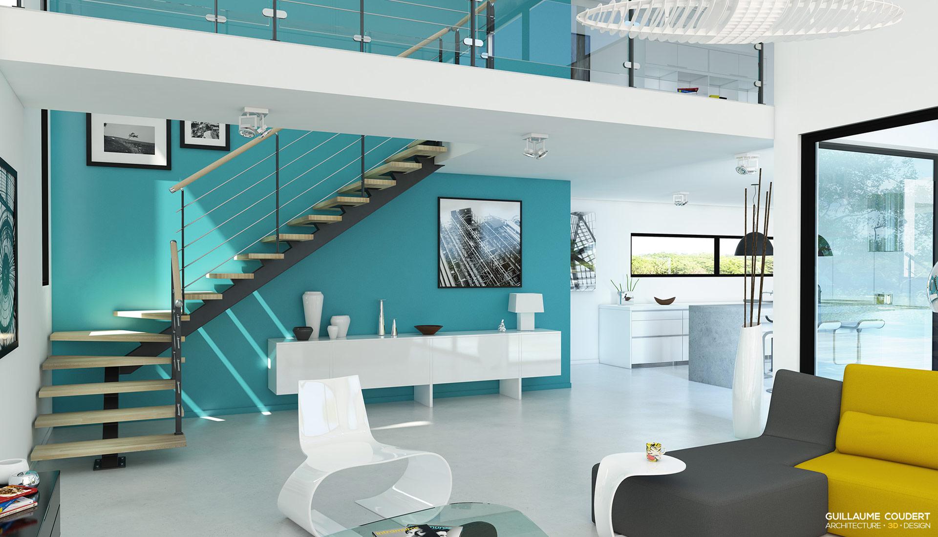 Conception maison 3d achat des plans coupes et faades for Conception maison moderne