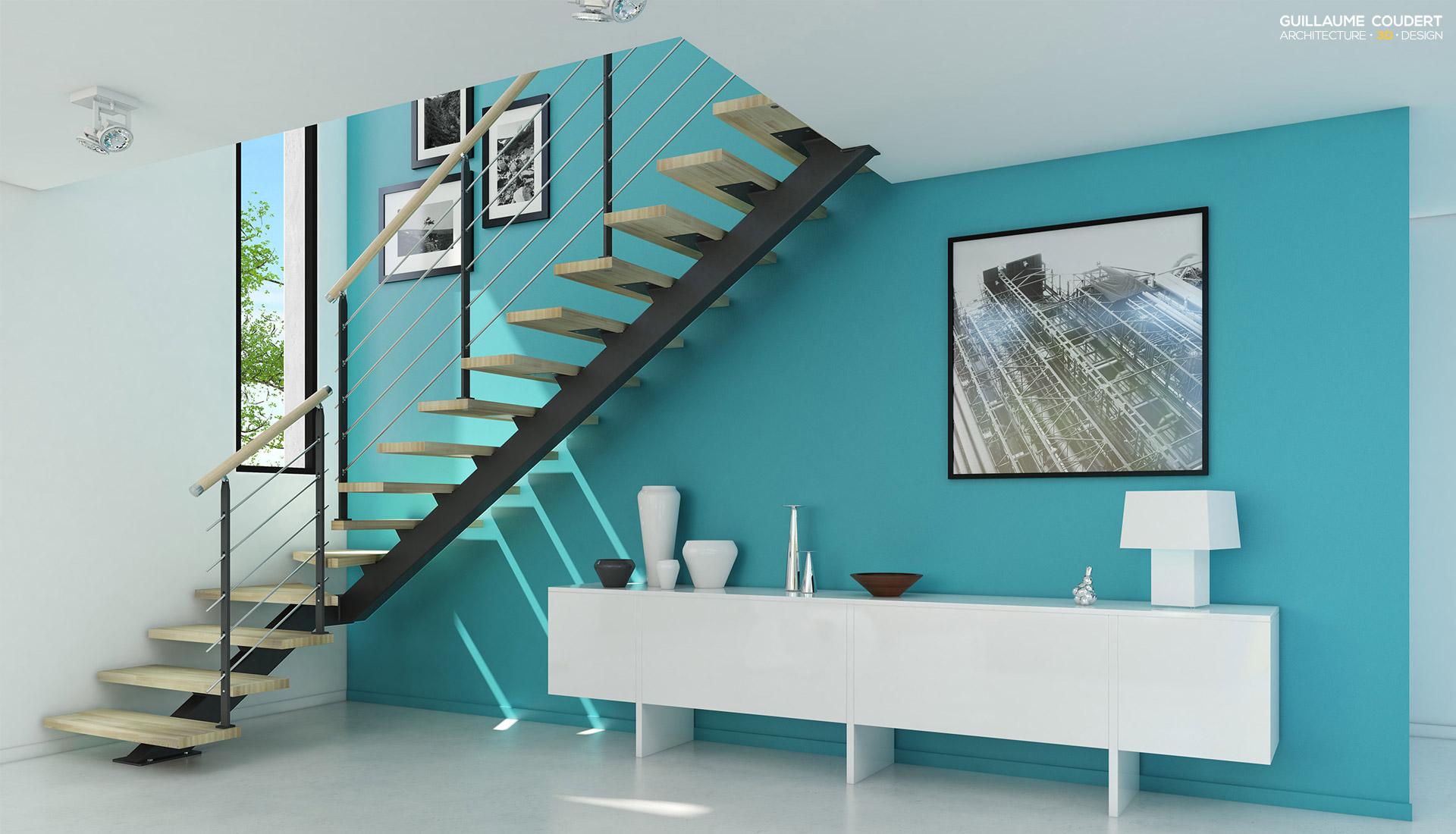Conception maison 3d moderne plans maison 3d planchers de for Conception plan 3d en ligne