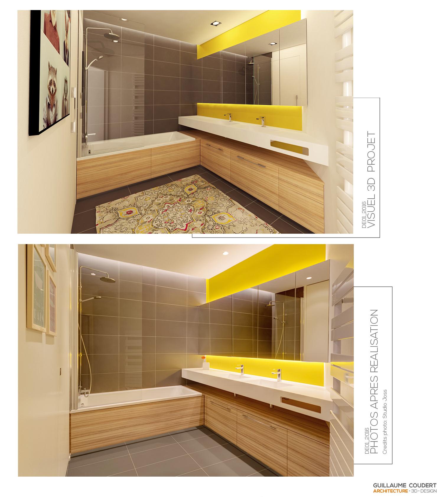 Miroir Salle De Bain Eclairage Led ~ sdb de01 lyon_69006 guillaume coudert architecture d int rieur