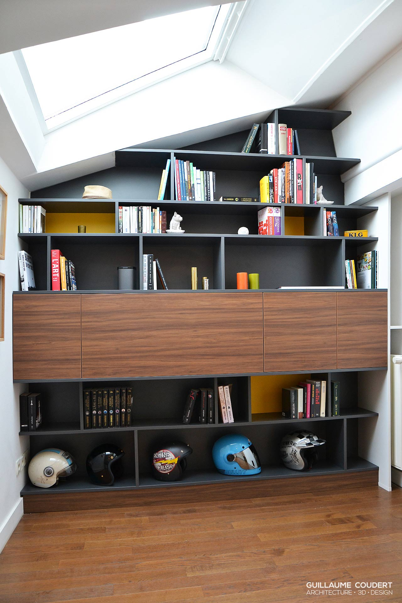 bibliotheque secretaire guillaume coudert architecture. Black Bedroom Furniture Sets. Home Design Ideas