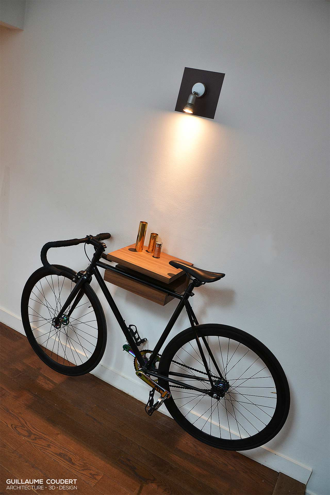 Support velo guillaume coudert architecture d 39 int rieur - Support velo appartement ...