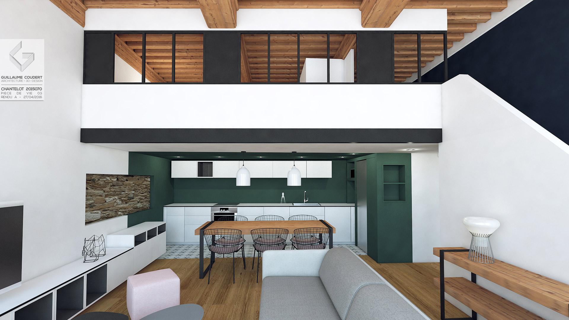 Appartement Cha01 Lyon_69004 Guillaume Coudert Architecture D  # Meuble Tv Enfilade