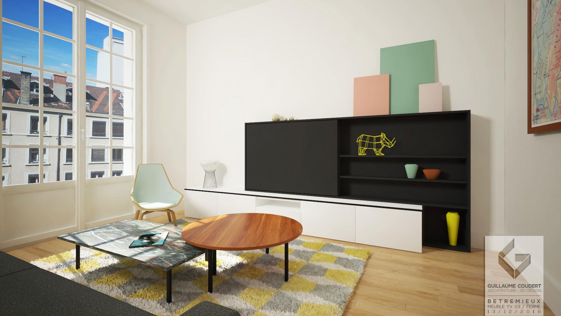 Meuble Tv Guillaume Coudert Architecture D Int Rieur # Meuble Tele Ferme