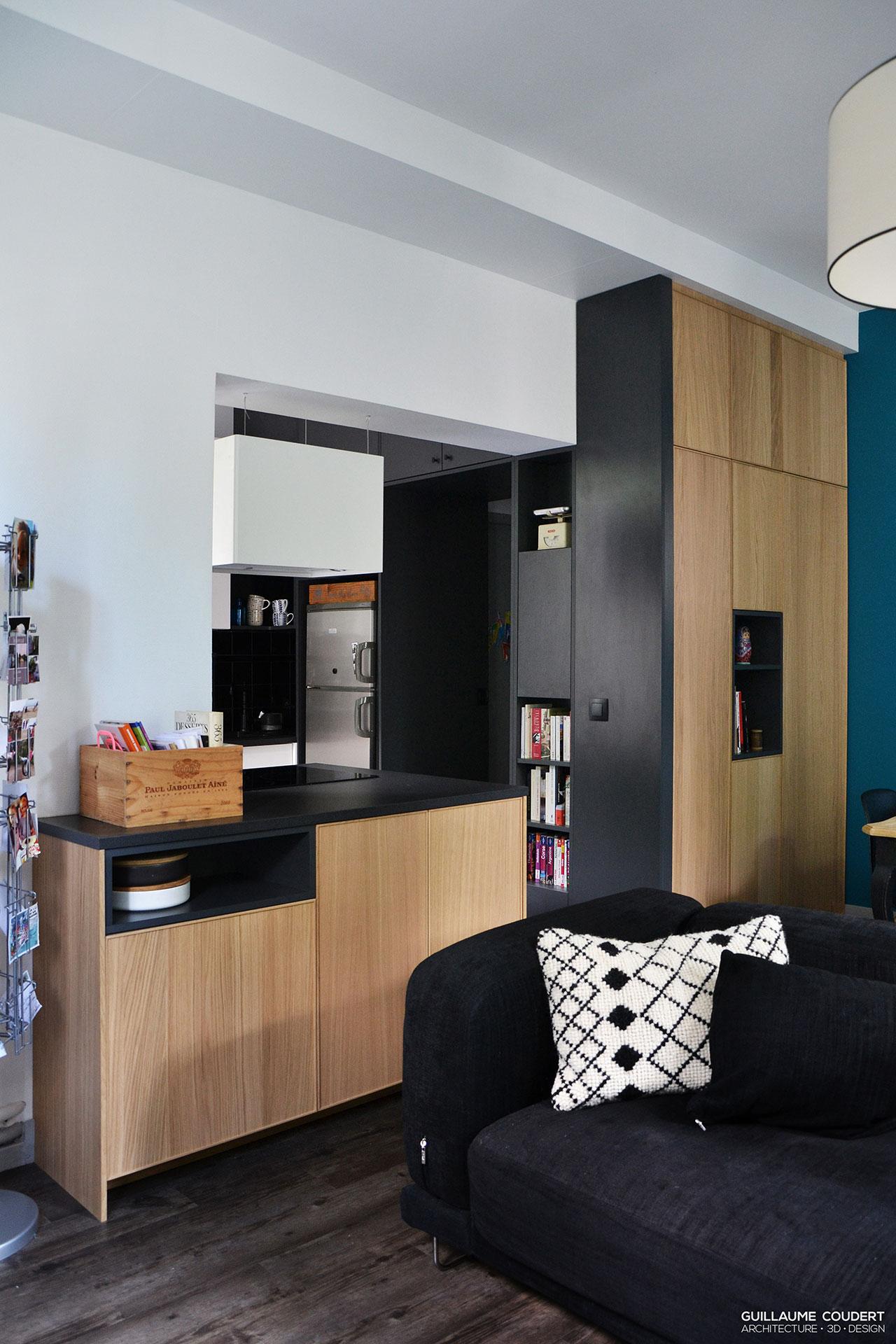 Appartement boc01 villeurbanne 69100 guillaume coudert architecture d 39 int rieur - Cloison demontable chambre ...