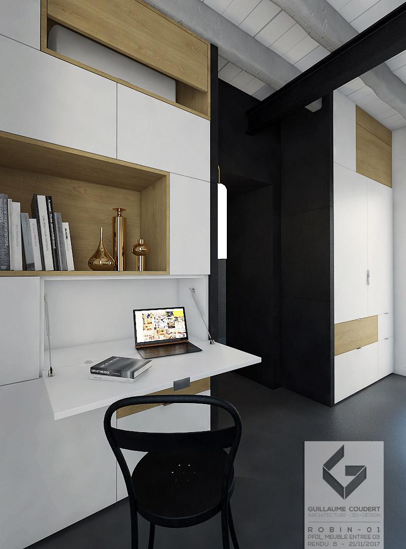 meuble entr e meuble salon guillaume coudert architecture d 39 int rieur. Black Bedroom Furniture Sets. Home Design Ideas