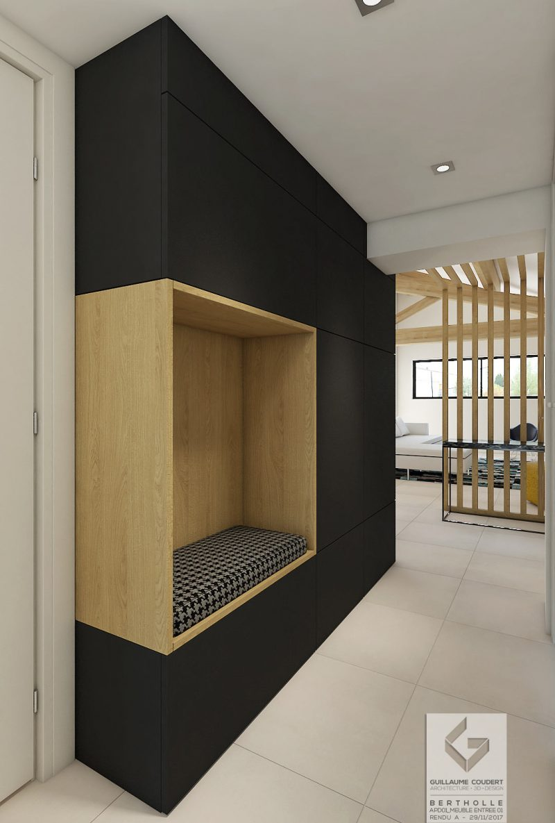meuble entr e meuble tv guillaume coudert architecture. Black Bedroom Furniture Sets. Home Design Ideas