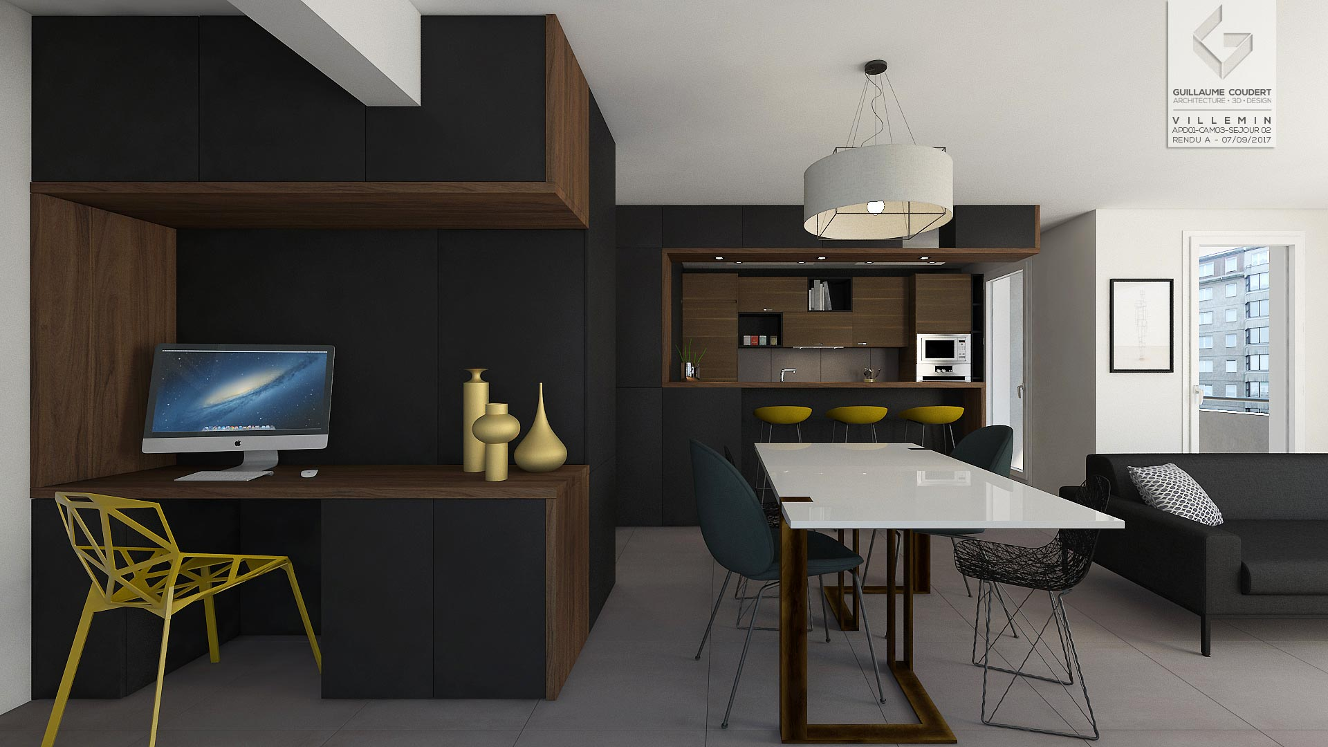 appartement vil01 lyon 69007 guillaume coudert architecture d 39 int rieur. Black Bedroom Furniture Sets. Home Design Ideas